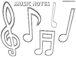 Ingenious Design Ideas Musical Notes Coloring Pages Free Printable Music Note For Kids Image Gallery Collection