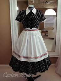 black and white polka dot dress custom style