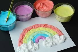 les enfants adorent la peinture mousse découvrez la recette