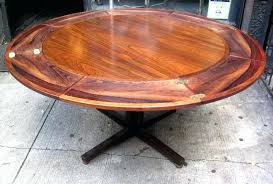 Round Dining Table With Extension Rosewood Sold White Trash