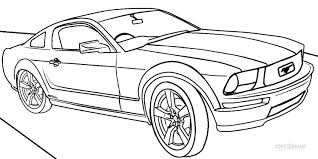Printable Mustang Coloring Pages For Kids