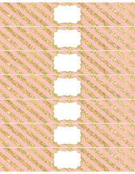 Pink And Gold Birthday Themes by Pink And Gold Water Bottle Wrappers Free Printable Paper Trail