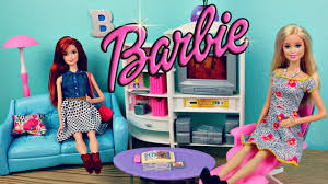 barbie living room dollhouse makeover new barbie furniture and