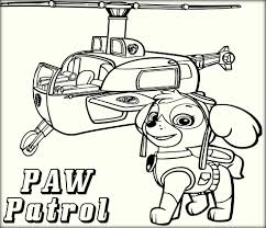 Halicopter Paw Patrol Coloring Online
