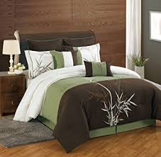 Amazon 8 Piece King Bamboo Embroidered forter Set Home