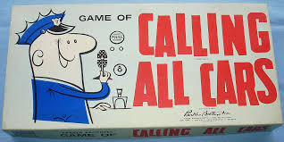 Vintage 1961 Kohner Parker Brothers Calling All Cars Police Board Game Box Lid