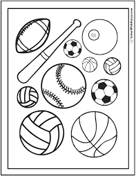 Games And Sports Coloring Pages