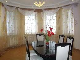 Dining Room Curtain Image Of Ideas Fabric Decorating