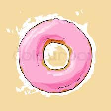 Stock vector of Sweet donut illustration on light background