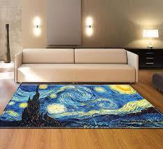 gogh öl muster teppich für wohnzimmer schlafzimmer boden matte anti rutsch küche teppich tisch matte fußmatte