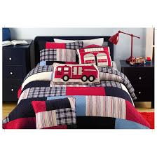 100 Fire Truck Bedding Shop Thomas Truck Patchwork 3piece Quilt Set On Sale Free