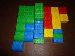 Lego Building Blocks Extra Large Works With Duplo Lot Of 33 Pieces