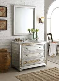 adelina 42 inch mirrored bathroom vanity white marble top