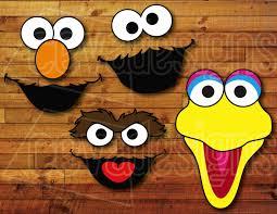 Elmo Halloween Stencil by Sesame Street Birthday Party Decoration 12 Printable Diy