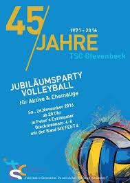 45 jahre tsc gievenbeck volleyballabteilung des tsc