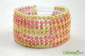 Tada The Tutorial For This DIY Beaded Pearl Bangle Is Done After Mastering Simple And Basic Technique You Can Create Much More Handcrafted