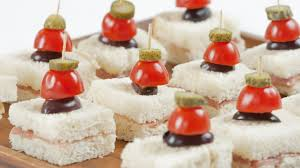 and easy canapes prosciutto canapés with cornichon skewers