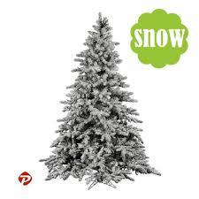 2 9ft WHITE SNOW FLOCKED PVC Artificial Christmas Tree Unlit Multiple Sizes SML