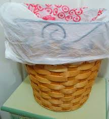 Small Bathroom Trash Can With Lid by Vickie U0027s Kitchen And Garden 10 Ways To Reuse A Plastic Bag