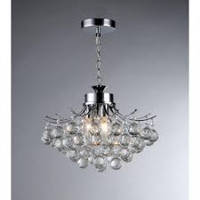 Home Depot Tiffany Hanging Lamp by Warehouse Of Tiffany Boadicea 3 Light Crystal Chrome Chandelier