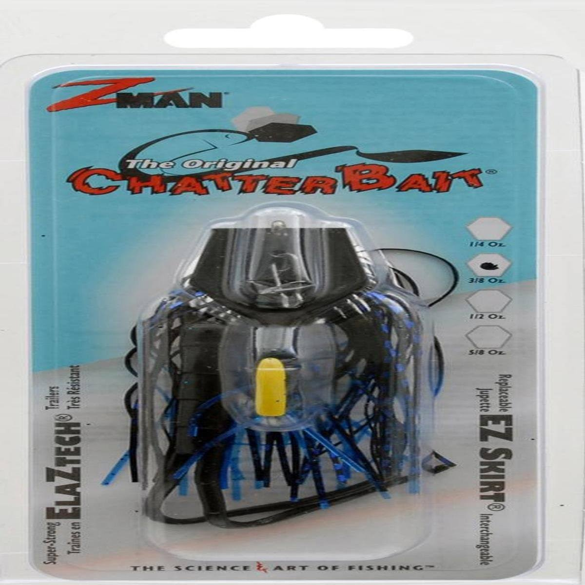 Z-Man Original Chatterbait 3/8 oz. Black Blue Nickel