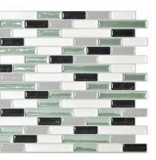 Harmony Mosaik Smart Tiles by Smart Tiles Muretto Beige 10 25 In W X 9 125 In H Peel And Stick