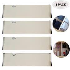 4 er set schubladen ordnungssystem verstellbare plastik trennwand schubladeneinsatz ausziehbare schubladen organizer schubladen trennsystem für