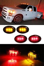100 Truck Clearance Lights Ford F350 FSeries 4pc LED Fender Bed Side Marker Smoke Or