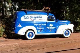 100 1946 Chevy Panel Truck Franklin Mint Chevrolet Mt Franklin Ski Lodge124