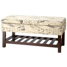 Storage Ottoman Bench Storage Ottoman Vintage Script Storage Bench