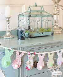 Easter Bunny Banner No Sew Pottery Barn Inspired Holiday Decor