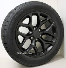 Chevy Style Satin Black Snowflake 20