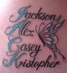 Ive Got My Kids Names On Shoulder Blade Too I Love Tattos Want