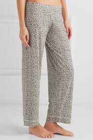 eberjey sleep chic leopard print jersey pajama set in gray lyst