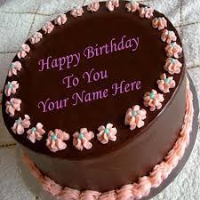 write name on chocolate birthday cake 2