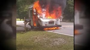 100 Postal Truck Fire WSBTV On Twitter A Postal Worker Was Nearly Burned When Her Work