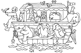 New Noahs Ark Coloring Page 78 For Picture With