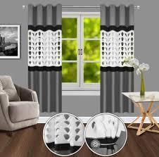 curtains pelmets vorhang ösen laser 3d gardine dekoschal deko ösenschal ösenvorhänge 145x250 home furniture diy new times bg