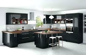 cuisine grise et plan de travail noir cuisine avec plan de travail cuisine avec plan de travail de forme