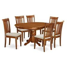 Bisonoffice Pc Set Avon Kitchen Table With Leaf And ...