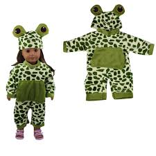 Sleeping Baby Frog Shape Doll Clothes Set For 18 American Girl