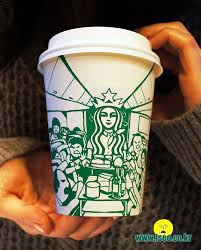 Illustrator Entice On Starbucks Cups To Artistically Renovate The Logo