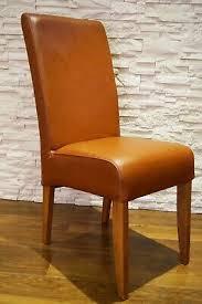 cognacfarbe echtleder stuhl echt leder stühle esszimmer