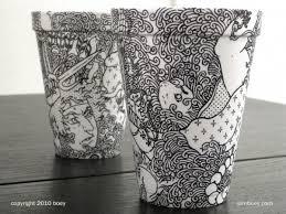 Stunning Styrofoam Cup Art