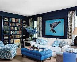 Teal Green Living Room Ideas by Bold Table And Blue Walls For Awesome Living Room Idea Living