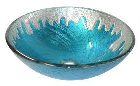 verdazzurro tigs132 glass vessel bathroom sink corian graylite