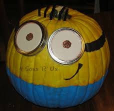 Minion Pumpkin Carvings by Despicable Me U0027minion U0027 Pumpkin Tutorial 4 Sons U0027r U0027 Us