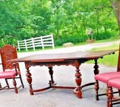 Image Is Loading ANTIQUE JACOBEAN DINING ROOM TABLE NO Chairs EARLY