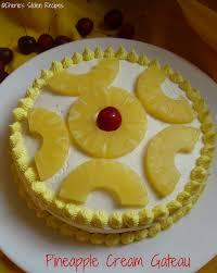 Pineapple Cream Gateau Happy Birthday Mom
