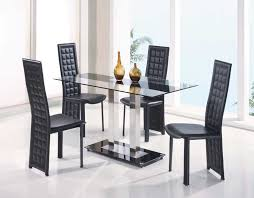 Glass And Metal Constructed Dining Table Set GL 108